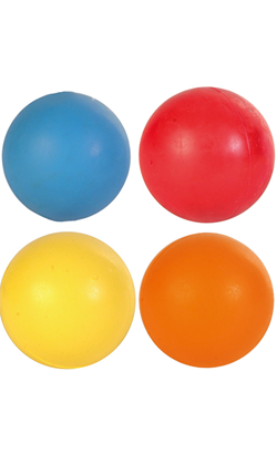 Trixie Toy Ball Natural Rubber - Colors Assorted