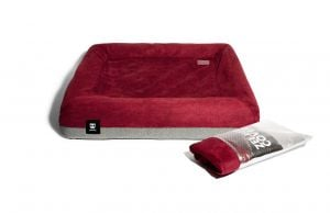 Zee.Dog Burgundy/grey ZeeBed Cover
