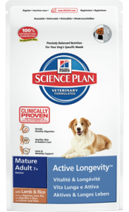 Hills Science Plan Canine Mature Adult 7+ with Lamb & Rice 3 kg